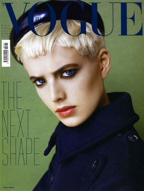 Model Of The Year Agyness Deyn by Agyness Deyn Throughout The Years In Vogue Voguegraphy