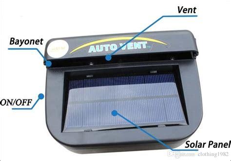 solar fan for car auto fan car ventilation system solar fan telebrands