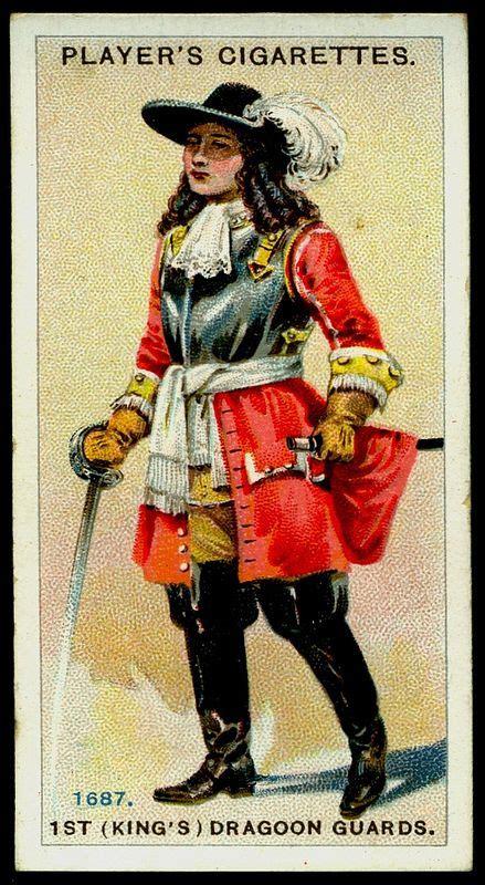 Cigarette Card - King's Dragoon Guards, 1687 | England ... K 1687