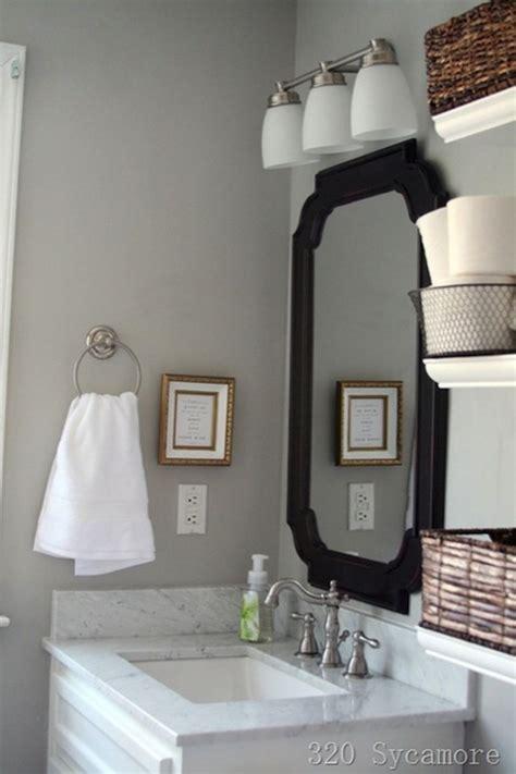 grey walls contemporary bathroom glidden fossil grey