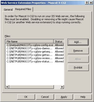 configure xp perl mascot 2 2 01 for windows installation troubleshooter