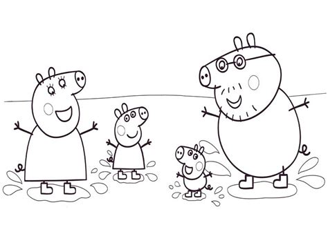 peppa pig cartoon coloring pages peppa pig cartoon coloring pages for kids