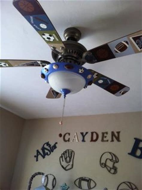 sports themed ceiling fans our miracle baby s all star sports nursery theme