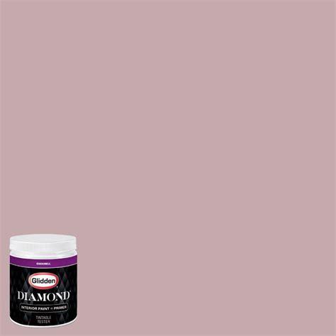 glidden 8 oz hdgr23 soft mulberry mauve eggshell interior paint with primer tester