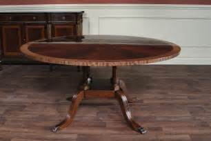 60 Dining Room Table 60 034 round mahogany dining table single pedestal dining