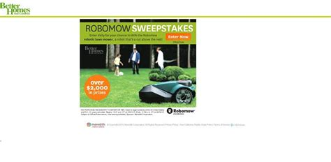 Better Homes And Gardens Sweepstakes - better homes and gardens robomow sweepstakes