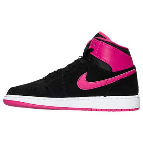 youth air black pink 1 retro high basketball