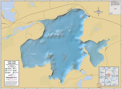 map arbor arbor vitae lake wall map