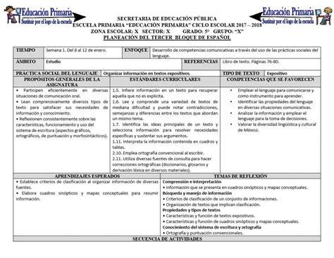 del sexto grado del tercer bloque del ciclo escolar 2014 2015 planeaci 243 n del quinto grado para el tercer bloque del