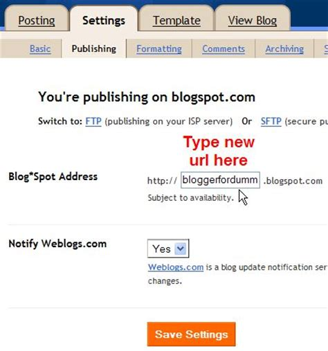 blogger url dummies guide to blogger