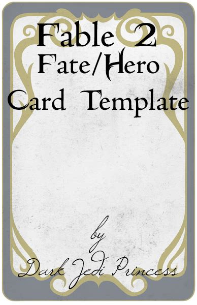 fate go card template fable ii fate card template by darkjediprincess on deviantart