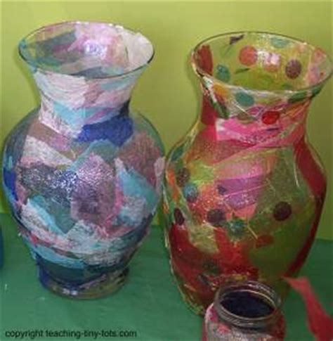 Decoupage Vase Ideas - toddler activities pretty decoupage jar
