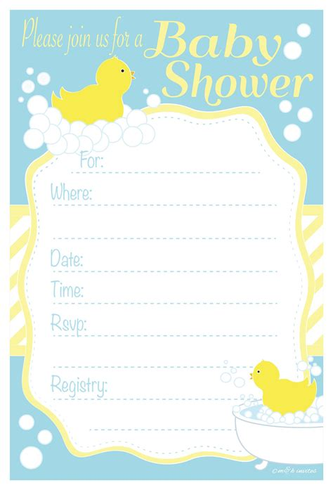 baby duck shower invitations free printables set of 12 scratch cards for baby