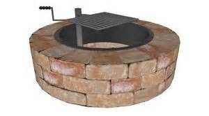 Outdoor Pit Ring Kits by Brick Outdoor Pit Ring Kit With Swivel Cooking