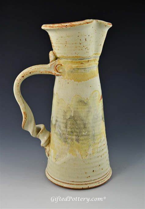 Pottery Pitchers Handmade - handmade pottery angular pitcher 11 quot southwest glaze