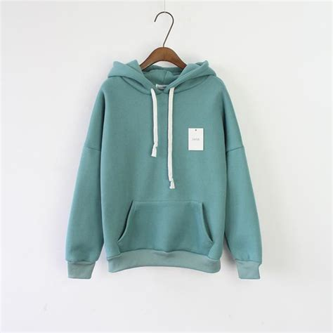 design hoodie sleeves women s long sleeve green casual harajuku winter hooded