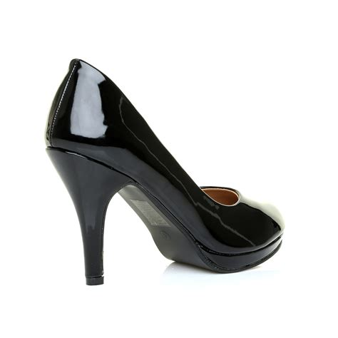High Heels Us office work classic low platform mid high heel pumps court shoes us size ebay