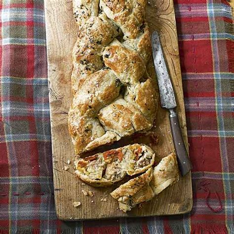 country homes and interiors recipes sausage and tomato plait recipe
