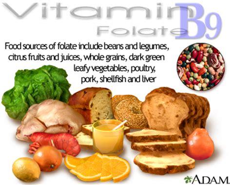 alimenti con vitamina b6 e b12 vitamin b9 source medlineplus encyclopedia image