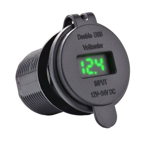 Wupp Car Charger Dual Usb Led With Voltmeter Combination Tuning Parts 12v car 4 2a dual usb charger socket voltage voltmeter motorcycle led ma1084 ebay