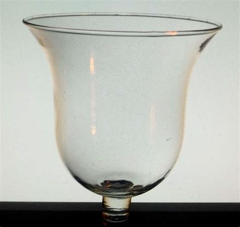 home interiors peg votive candle holder clear bell