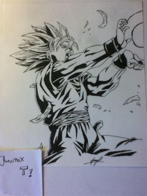 imagenes de goku blanco dibujo propio de goku en blanco y negro arte taringa