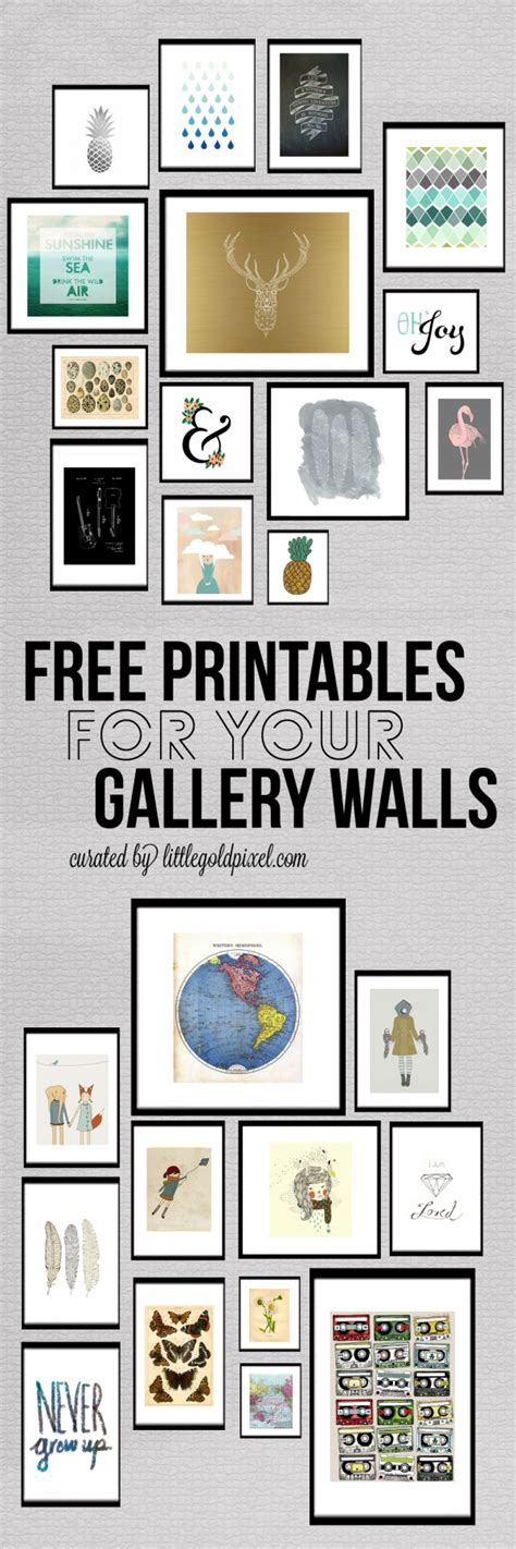 free printable wall art pictures roundup free printables for gallery walls little gold pixel