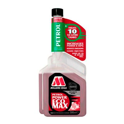millers oils petrol power ecomax fuel (performance