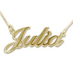 Custom Name Pendants Personalized Classic Name Necklace In 18k Gold Plating Mynamenecklace