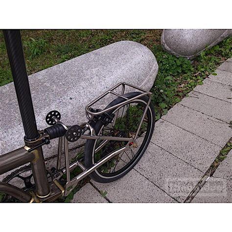 Titanium Rear Bike Rack by Custom Titanium Rear Rack H H For Brompton Brompton