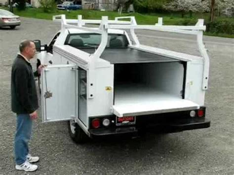 utility beds pace edwards tonneau cover utility bedlocker for service truck beds youtube