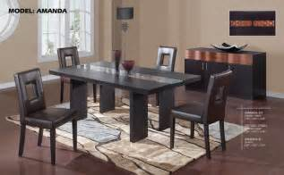 Dining Room Tables Miami by Luxury Rectangular Wood And Glass Top Leather Dining Room