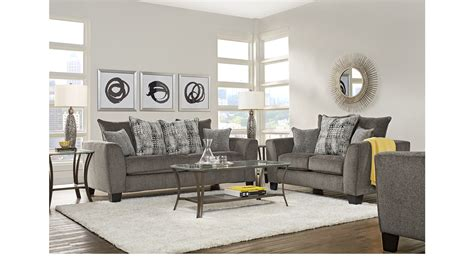 livingroom pc 899 99 austwell gray 5 pc living room classic contemporary textured
