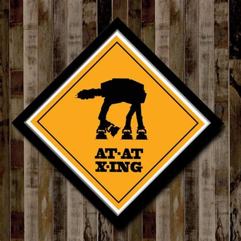 star wars home decorations star wars atat crossing poster 13 x 13 home decor
