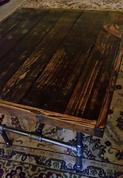 diy iron pipe table legs diy vintage pallet end table with black pipe legs pallet