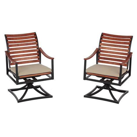 Hton Bay Swivel Patio Chair Cushions by Hton Bay Plaza Mayor Swivel Rocking Wood Outdoor Dining