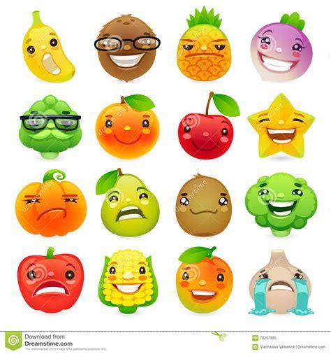 funny cartoon fruits  vegetables