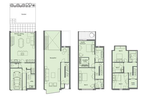 small townhouse plans exquisite house in london with double volume space by lli