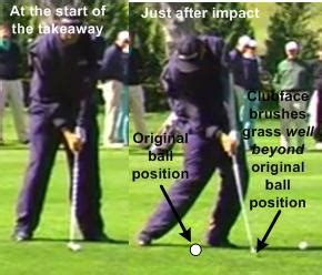 tom lehman swing golf swing drill clip a tee on your target line to stay