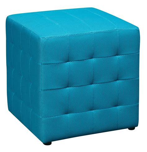blue square ottoman blue square mesh fabric cube ottoman footstool side