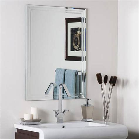 Frameless Bathroom Mirror Large Frameless Tri Bevel Wall Mirror Decor Wall