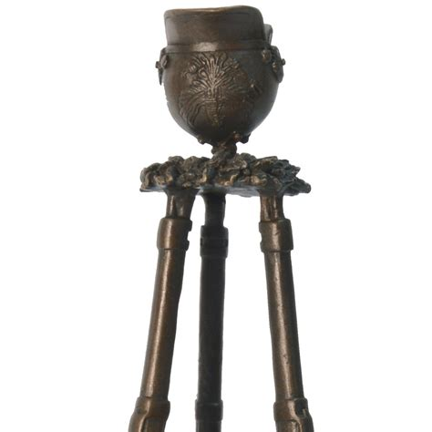 kerzenhalter 2 in 1 bronze memorial candle stand sculpture of war veterans