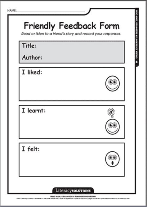 mind maps & organisers for writing sample 1: literacy