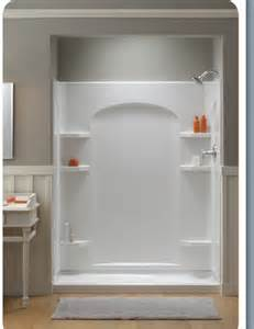 new ensemble shower easily replaces bathtub