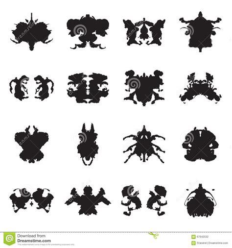 macchie di rorschach test on line collection of rorschach test inkblots vector illustration