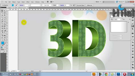tutorial 3d typography illustrator 3d text design tutorial in adobe illustrator