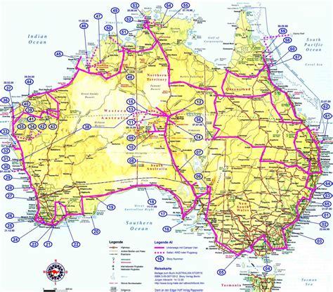 australia road map aus roads de mapsof net