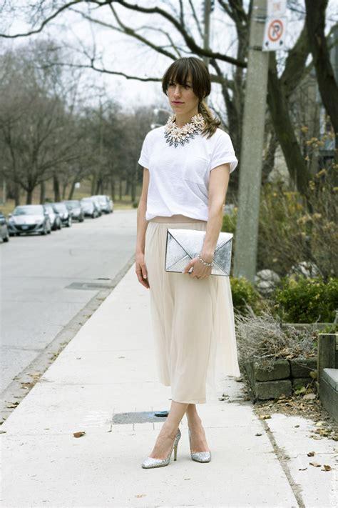 Wst 18465 White Flower Denim Skirt toronto style blush pink tulle skirt white t