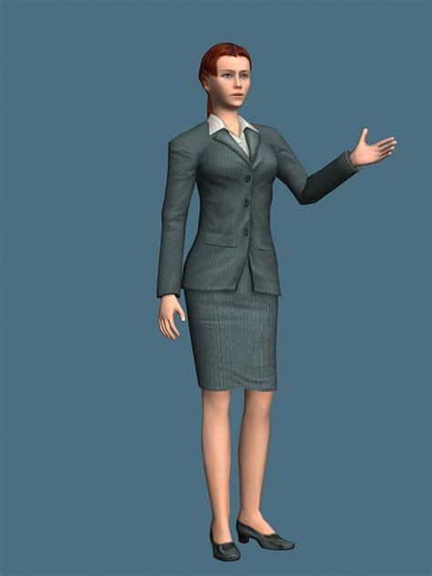 3d modeling rigged business in suit dress 3d model 3ds max files free modeling 22914