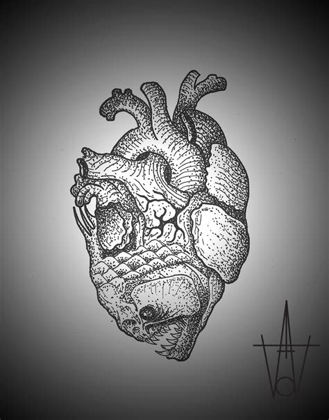 heart fish tattoo sketch best tattoo ideas gallery